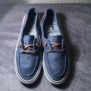 denim canvas slip on shoes